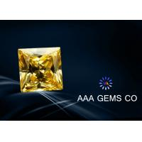 6mm Real Man Made Synthetic Moissanite Yellow Princess Square Shape