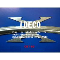 Buy cheap CBT-60 Stainless Steel Harpoon Razor Wire Concertinas, Barbed Razor Accordion Wire Security Fences product