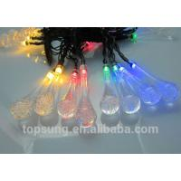 Buy cheap led solar lights water drop 5m 20leds colorful chiristmas lights product