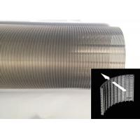 Buy cheap Liquid Filtration Cylindrical Wire Wrapped Screen Small Diameter Durable from Wholesalers