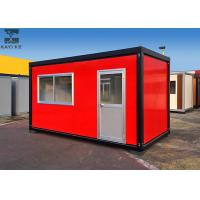 Buy cheap Red Flat Pack Container House , Single Container House For Living / Administration product