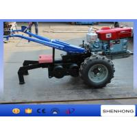 5 Ton Double Drum Two Wheel Walking Tractor Winch For Electric Power Construction