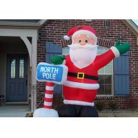 Buy cheap Custom Made Inflatable Advertising Products Inflatable Christmas Santa For Festival product