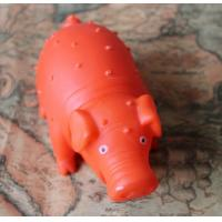 China Healthy Soft Chewing Latex Pet Dog Toy Pig Shaped OEM on sale