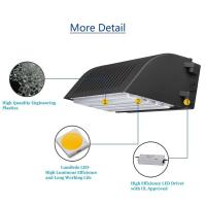 Buy cheap Semi - Cutoff LED Wall Pack Lights Waterproof 45w AC100~277V 4000k UL DLC Approval product