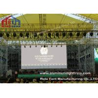 Buy cheap Outside Concert Stage Light Truss , Spigot Arc Stage Lighting Frame Solid Structure product