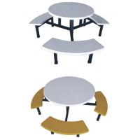 Buy cheap fiberglass or FRP round dining table with stools product
