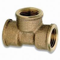 Buy cheap Bronze Pipe Fitting, Tee Branch Female Threaded, OEM and ODM Orders are Welcome product