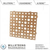 Buy cheap Gold AA1100 3003 H24 Suspended Aluminum Ceiling Panels For Indoor Building product