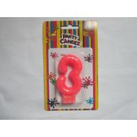 Buy cheap Pink NO Three Number Birthday Candles 19.3g Glittering Paraffin Wax For Party product