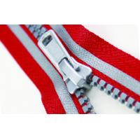 Buy cheap Fashion 5# Red And Gray Plastic Reflective Zipper apparel, luggage accessories product