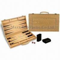 Buy cheap Wooden Inlaid Case Backgammon Game Set, Available with Logo Imprints product