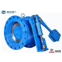 Buy cheap Flanged Butterfly Valve With Counter - Weight Hydraulic Control Check PN10 / PN16 product