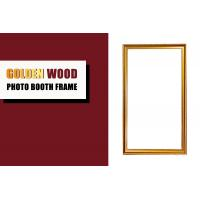 China Antique Gold Wooden Photo Booth Frame , Rectangle Shape Wedding Photo Booth Frame on sale