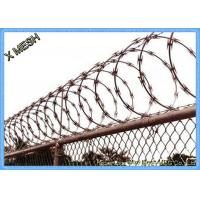 Buy cheap Stainless Steel Spiral Concertina Razor Barbed Tape Wire Hot Dipped Galvanized product