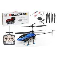China Blue Metal Frame 3 channel radio controlled  indoor helicopters  with  50m Control Range on sale
