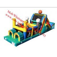 China Inflatable Obstacle Courses For Rent , Moon Bounce Obstacle Course on sale