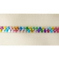 Buy cheap 5# Metal Handbag Zipper With Multi Colored Teeth And Polyester Yarn Tape product