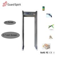 Buy cheap hotel security 3.7 inch Screen remote contorl archway walk through metal detector 33 zone from wholesalers
