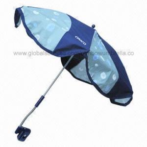 China Stroller Umbrella, Chrome-plated Metal Frame on sale