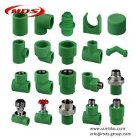 Quality Chinese factory plastic water pipe connectors green Din standard ppr pipe fittings for sale