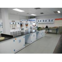 Buy cheap Floor Mounted Chemistry Lab Cabinets Ploypropylene Island Table Workbenches product