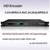 Buy cheap HD-SDI TO IP MPEG-2/H.264 HD Encoder Support 2*balanced stereo XLR, 2*RCA, 1*AES REH2301 product