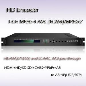 Buy cheap IPTV HD Encoder MPEG-4 AVC/H.264 Video Encoding UDP/RTP,RTSP IP Streaming Output product