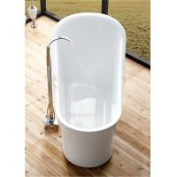 Buy cheap 1 Person Elegant Acrylic Free Standing Bathtub Oval Soaking Tub Multiple Colors product