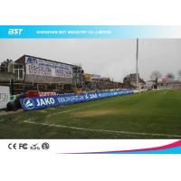 Quality P10 SMD 3535 Full Color Stadium Led Screen , Led Perimeter Advertising Boards Football for sale