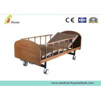 Medical Wooden Medical Hospital Beds Double Cranks With 4pcs 4