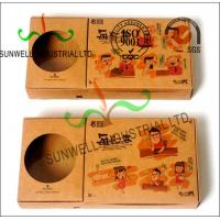 Buy cheap Collapsible Cardboard Food Packaging Trays With Drink Holder Fresh Design product