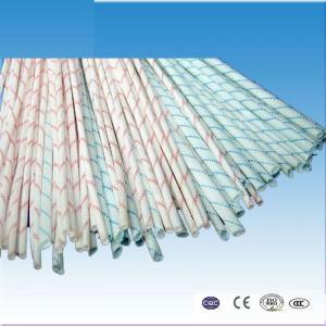 China hot sale 1.5kv 2715 PVC fiberglass sleeve with red line on sale