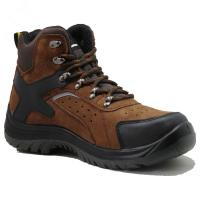 Buy cheap Injection pu/pu  with steel toe cap full grain  leather safety shoes product
