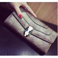 Buy cheap European and American fashion female long section of the leather wallet phone purse zipper hand bag large capacity product