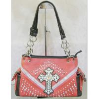 Buy cheap glass cross decorative beaded handbags popular for western cowgirl product