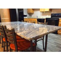 "37"" X 96"" Granite Stone Kitchen Countertops With Bullnose Edges , Grey Color"