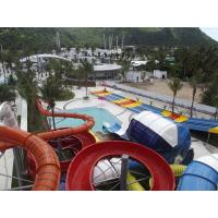 Adult Fiberglass Combination 4 Lines Colorful Water Slides For Water Park