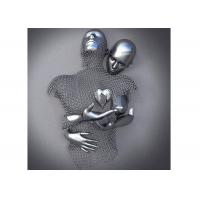 China Stainless Steel Figurative Love Ss Sculpture Contemporary Wall Art Design on sale