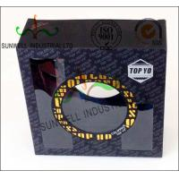 Buy cheap Gold Foil Stamping Custom Product Packaging Boxes With PVC Transparent Window product