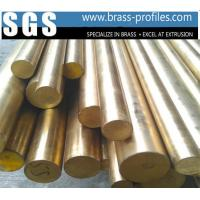Buy cheap C38500 Alloy Copper Bar With Round Shape / Extruding Brass Profiles product