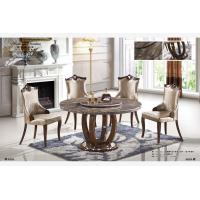 Buy cheap 6 seater round marble dining table with lazy Susan product