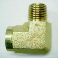 China Steel Pipe Elbow (Male x Female 60 Cone) with Yellow Zinc Plating on sale