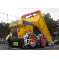 Buy cheap New construction site giant dump car inflatable slide with EN14960 certification product