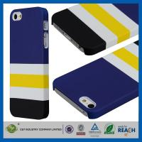 Quality Blue White Stripe Cellphone Cases , Iphone 5 5s Mobile Phone Protective Covers for sale