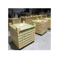 Buy cheap Durable Supermarket Wooden Fruit Stand With Acrylic Guardrail On Top from wholesalers