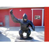 Buy cheap Casting Finish Life Size Antique Fiberglass Bronze Gorilla Statue product
