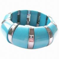 Buy cheap Chunky stretch bracelet in blue tone, small orders are welcome product