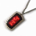 2015 new fashion led name tag necklace