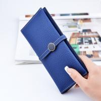 Buy cheap Belt Buckle Ladies Long Type Leather Clutch Wallet With Thin Body Simple Design product